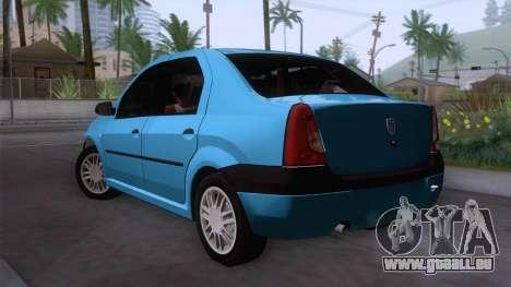 Dacia Logan Prestige 1.6L 16V pour GTA San Andreas laissé vue