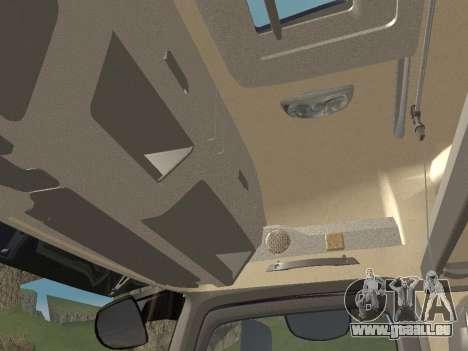 Mercedes-Benz Actros Mp4 4x2 v2.0 Steamspace für GTA San Andreas Unteransicht