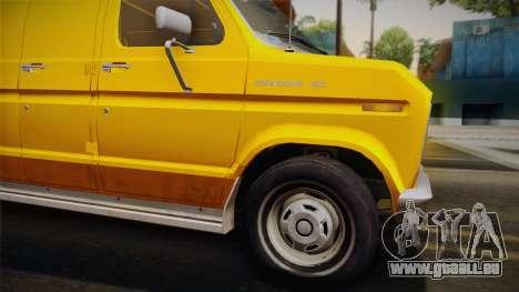 Ford E-150 Commercial Van 1982 2.0 IVF pour GTA San Andreas sur la vue arrière gauche