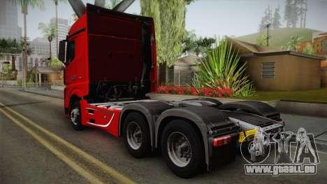 Mercedes-Benz Actros Mp4 6x4 v2.0 Bigspace pour GTA San Andreas laissé vue