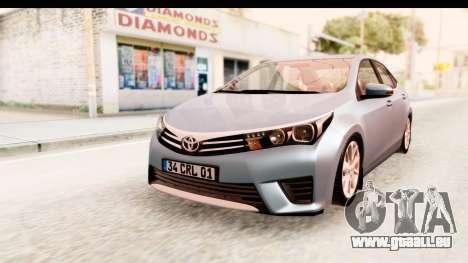Toyota Corolla 2014 IVF pour GTA San Andreas