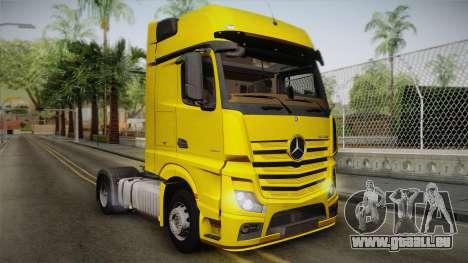 Mercedes-Benz Actros Mp4 4x2 v2.0 Gigaspace v2 pour GTA San Andreas