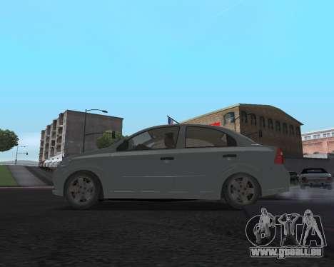 Chevrolet Aveo Armenian für GTA San Andreas Rückansicht