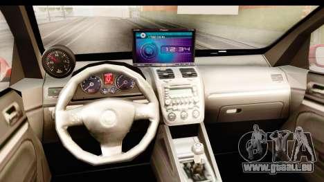Volkswagen Golf GTI pour GTA San Andreas vue intérieure