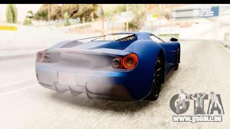GTA 5 Vapid FMJ SA Style pour GTA San Andreas laissé vue