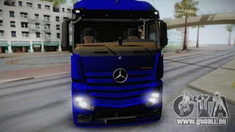 Mercedes-Benz Actros Mp4 v2.0 Tandem Steam für GTA San Andreas zurück linke Ansicht