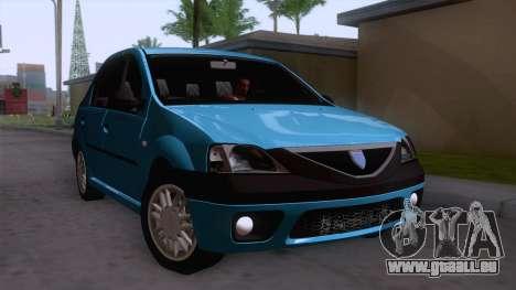 Dacia Logan Prestige 1.6L 16V pour GTA San Andreas vue de droite