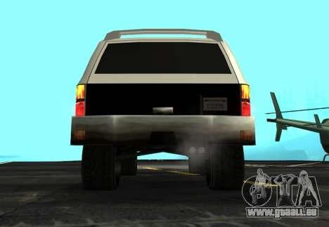 FBI Rancher Tuning pour GTA San Andreas vue arrière