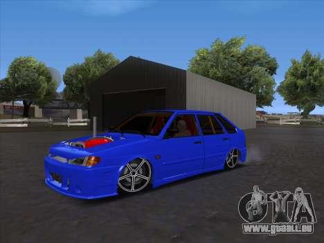 VAZ 2114 Sport pour GTA San Andreas sur la vue arrière gauche