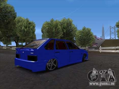 VAZ 2114 Sport pour GTA San Andreas vue intérieure