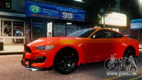 Shelby GT350R 2016 für GTA 4 rechte Ansicht