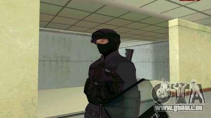 Haut SWAT GTA 5 für GTA San Andreas
