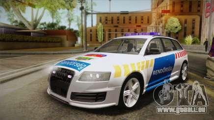 Audi RS6 Hungarian Police für GTA San Andreas