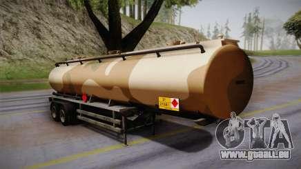 GTA 5 Army Tank Trailer IVF für GTA San Andreas