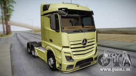 Mercedes-Benz Actros Mp4 6x4 v2.0 Steamspace pour GTA San Andreas