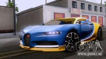 Bugatti Chiron 2017 v2.5 pour GTA San Andreas