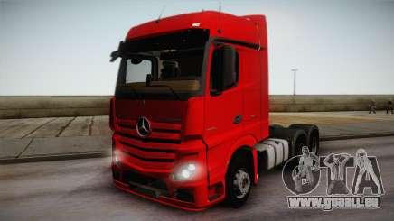 Mercedes-Benz Actros Mp4 6x4 v2.0 Bigspace pour GTA San Andreas