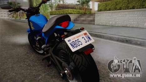 GTA 5 Pegassi Esskey pour GTA San Andreas sur la vue arrière gauche