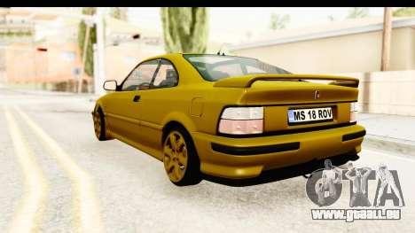 Rover 220 Gold Edition pour GTA San Andreas laissé vue