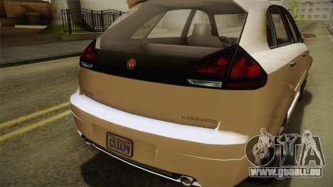 GTA 5 Emperor Habanero IVF für GTA San Andreas Seitenansicht