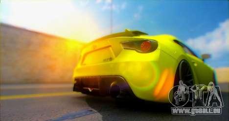 Toyota GT86 2015 Stance für GTA San Andreas Rückansicht