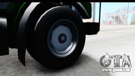 GTA 5 Stockade v1 IVF für GTA San Andreas Rückansicht