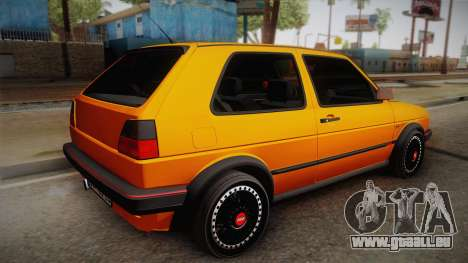 Volkswagen Golf Mk2 GTI .ILchE STYLE. pour GTA San Andreas laissé vue