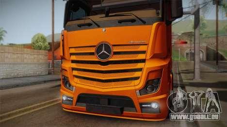 Mercedes-Benz Actros Mp4 4x2 v2.0 Steamspace pour GTA San Andreas vue de droite