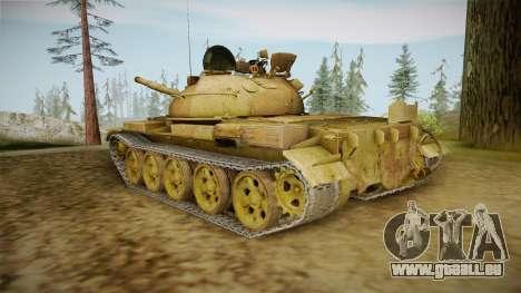 T-62 Desert Camo v3 pour GTA San Andreas sur la vue arrière gauche