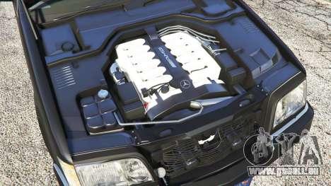 GTA 5 Mercedes-Benz W140 AMG [replace] droite vue latérale
