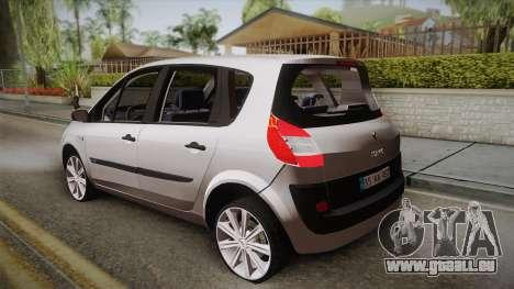 Renault Scenic II pour GTA San Andreas laissé vue