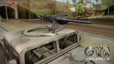 HMMWV Humvee Woodland pour GTA San Andreas sur la vue arrière gauche