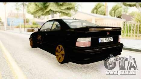 Rover 220 Kent Edition pour GTA San Andreas laissé vue