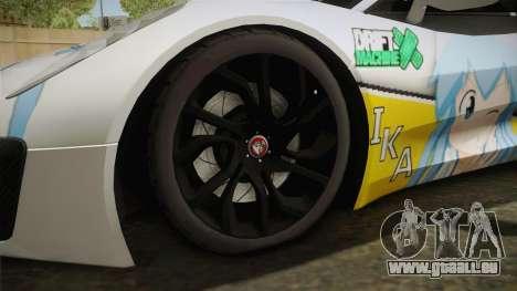 Jaguar C-X75 Ika Musume Itasha für GTA San Andreas Rückansicht