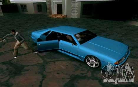 Elegy Sedan für GTA San Andreas Rückansicht