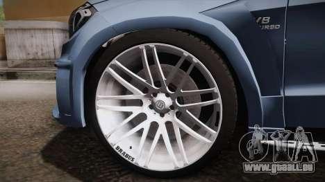 Mercedes-Benz GL63 Brabus pour GTA San Andreas vue arrière