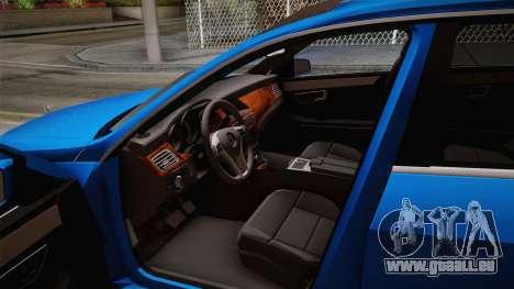 Mercedes-Benz W212 E-class pour GTA San Andreas vue arrière