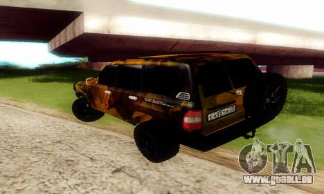 Toyota Land Cruiser 105 pour GTA San Andreas vue intérieure