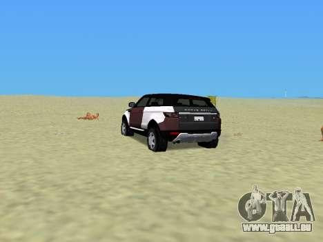 Range Rover Evoque pour une vue GTA Vice City de la gauche