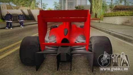Lotus F1 T125 für GTA San Andreas Rückansicht