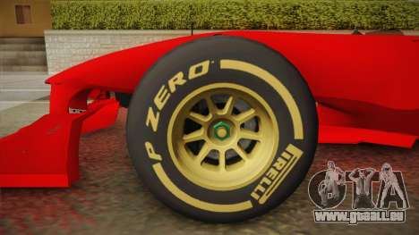 Lotus F1 T125 für GTA San Andreas zurück linke Ansicht