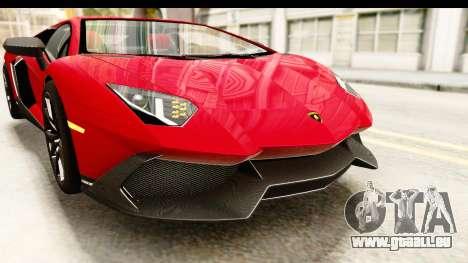 Lamborghini Aventador LP720-4 2013 für GTA San Andreas Innen