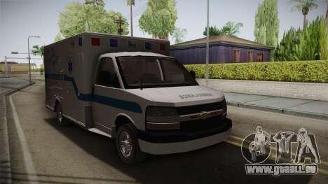 Chevrolet Express 2011 Ambulance für GTA San Andreas rechten Ansicht