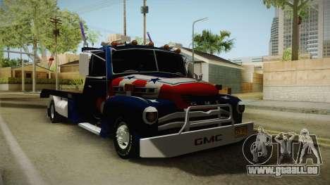 GMC 4100 1950 GRUA pour GTA San Andreas sur la vue arrière gauche