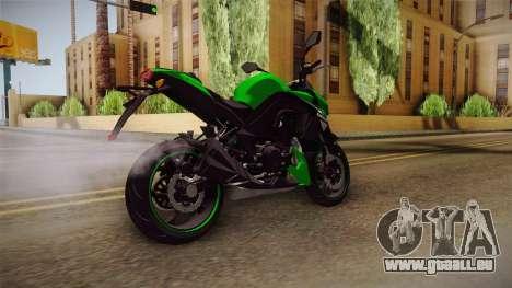 Kawasaki Z1000 für GTA San Andreas zurück linke Ansicht