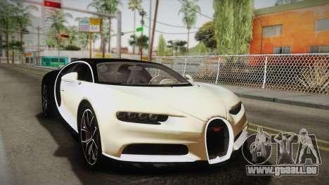 Bugatti Chiron 2017 v2.0 Italian Plate pour GTA San Andreas