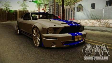 Ford Mustang Shelby GT500KR Super Snake pour GTA San Andreas sur la vue arrière gauche