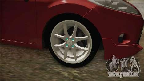 Ford Fiesta 2009 pour GTA San Andreas vue arrière
