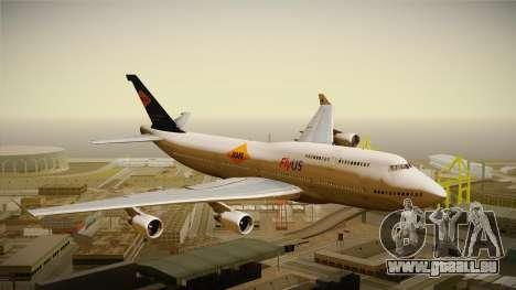 Boeing 747-400 FlyUS with NMB Logo pour GTA San Andreas sur la vue arrière gauche