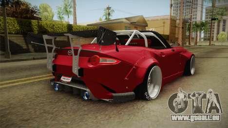 Mazda MX-5 2016 Hachiraito pour GTA San Andreas laissé vue